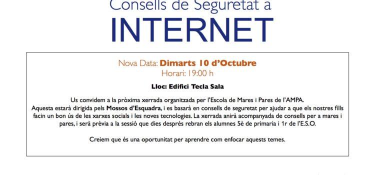 Xerrada «Consells de seguretat a internet», amb els Mossos d'Esquadra